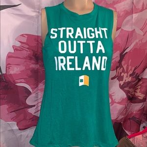 "New ""Straight outa Ireland"" tank women's XS"